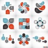 Infographicmalplaatjes voor Bedrijfsvector Stock Afbeeldingen