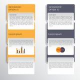 Infographicontwerp op de grijze achtergrond EPS 10 vectordossier Stock Afbeeldingen