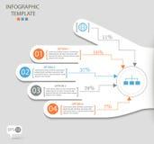 Infographicopties met abstracte hand Stock Afbeelding