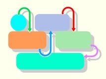 Infographicrechthoeken Stock Foto