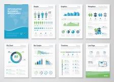 Infographics企业数据形象化的小册子元素 免版税库存照片