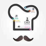 Infographics传染媒介食物设计图线型 库存例证