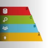 Infographics半金字塔 也corel凹道例证向量 免版税图库摄影
