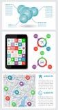 Infographics和网元素 免版税库存照片
