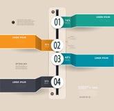 Infographics时间安排 免版税库存照片