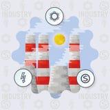 Infographics概念产业 图库摄影