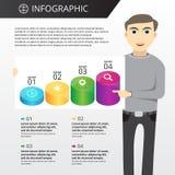 Infographics模板 免版税库存照片