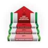 infographics的传染媒介梯子 免版税库存图片