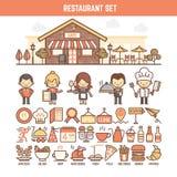 infographics的食物和餐馆元素 库存照片