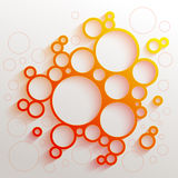 Infographics红色和橙色梯度圈子 免版税库存图片