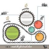 infographics自行车扣练齿轮的元素, 图库摄影