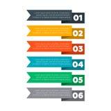 Infographics要素 六个步过程 库存例证
