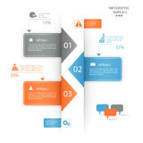 Infographics选择横幅 库存照片