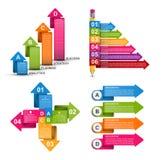 Infographics συλλογής στοιχεία τέσσερα σχεδίου ανασκόπησης snowflakes λευκό Infographics για το έμβλημα επιχειρησιακών παρουσιάσε απεικόνιση αποθεμάτων