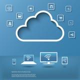 Infographics έννοιας υπολογισμού σύννεφων Στοκ φωτογραφία με δικαίωμα ελεύθερης χρήσης