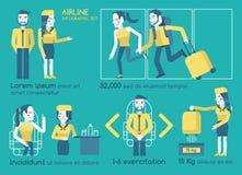 Infographics αερογραμμών Στοκ Εικόνες