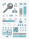 Infographics ακίνητων περιουσιών Στοκ Φωτογραφίες