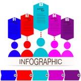 Infographics ανθρώπων επικοινωνίας Στοκ φωτογραφία με δικαίωμα ελεύθερης χρήσης