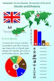 _ Infographics για την παρουσίαση Όλες οι χώρες του κόσμου διανυσματική απεικόνιση