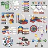 Infographics για τις επιχειρησιακές παρουσιάσεις Στοκ Φωτογραφία