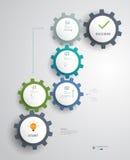 Infographics για τον επιτυχή προγραμματισμό ιδέας επιχειρησιακών βημάτων Στοκ Φωτογραφίες