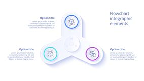 Infographics διαγραμμάτων επιχειρησιακής διαδικασίας με 3 τμήματα βημάτων Circul απεικόνιση αποθεμάτων