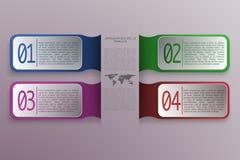 infographics 4 επιλογής με τα τρισδιάστατα αντικείμενα ορθογωνίων στο σύγχρονο ύφος ελεύθερη απεικόνιση δικαιώματος