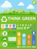 Infographics διαχωρισμού αποβλήτων Στοκ Εικόνες