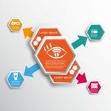 Infographics με hexagons Στοκ Φωτογραφίες