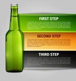Infographics μπύρας Στοκ Εικόνες