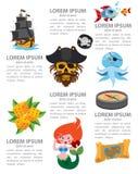 Infographics πειρατών Στοκ Εικόνες