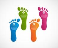 Infographics προτύπων σύγχρονου σχεδίου ποδιών απεικόνιση αποθεμάτων