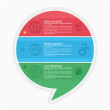 Infographics τρία σημεία Στοκ εικόνα με δικαίωμα ελεύθερης χρήσης