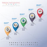 Infographics υπόδειξης ως προς το χρόνο με τα εικονίδια καθορισμένα διάνυσμα απεικόνιση Στοκ εικόνα με δικαίωμα ελεύθερης χρήσης