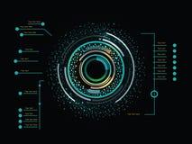 Infographics χρώματος ως head-up επίδειξη Στοκ εικόνα με δικαίωμα ελεύθερης χρήσης