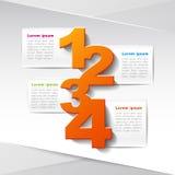 Infographics бумаги 3d вектора абстрактное Стоковые Фото