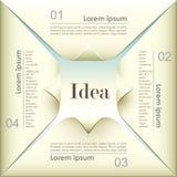 Infographics бумаги origami 3d вектора абстрактное Стоковое фото RF