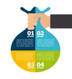 Infographics денег бесплатная иллюстрация