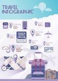 Infographics лета плановика каникул плоское Стоковые Фото