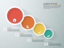Infographics дела с этапами воронки продаж Стоковые Изображения RF