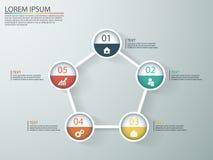 Infographics дела с этапами воронки продаж Стоковое Изображение RF