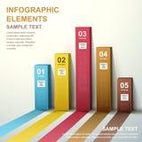 infographics диаграммы в виде вертикальных полос конспекта 3d Стоковое Фото