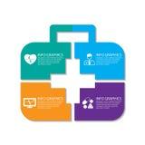 infographics диаграммы грамма диаграммы кнопок тела органы cardio людского внутренние медицинские плюс комплект представления Стоковое Изображение