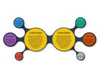 Infographics диаграммы Metaball круглое Стоковая Фотография