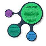 Infographics диаграммы Metaball круглое Стоковые Фото