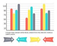 Infographics и диаграммы с данными по наконечников иллюстрация вектора