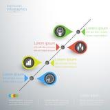 Infographics идеи диаграммы дела дизайн линейного современный иллюстрация вектора