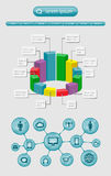 Infographics и элементы сети Стоковые Фотографии RF