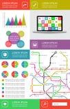 Infographics и элементы сети Стоковые Изображения RF