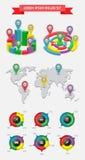 Infographics и элементы сеты Стоковые Фотографии RF